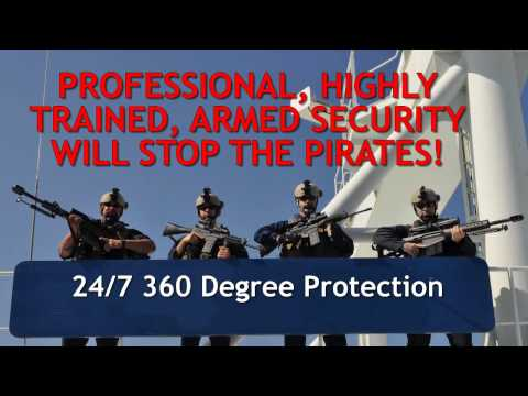 Stopping Somali Pirates W/ 50 CAL Maritime Security Protecting Vessels