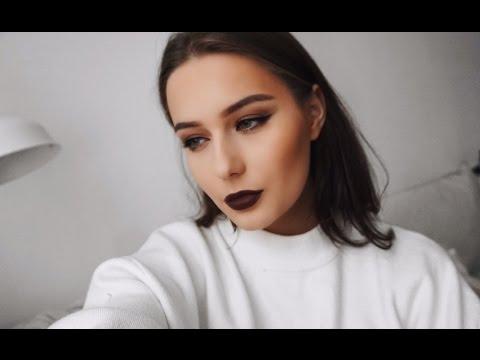 ОСЕННИЙ МАКИЯЖ // Темная Помада // Fall Makeup