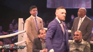 Conor McGregor goes after Mayweather's security, calls them