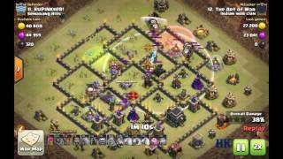 Clash of Clans: GOBOLALO TH9 3* attack against maxed TH9 not having maxed heroes