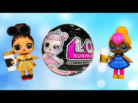 Куклы ЛОЛ Черный ЛОЛ Сюрприз ЗОЛОТОЙ ШАР Видео для детей Игрушки сюрпризы LOL Surprise Dolls