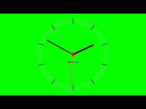 ФУТАЖ Часы (хромакей)