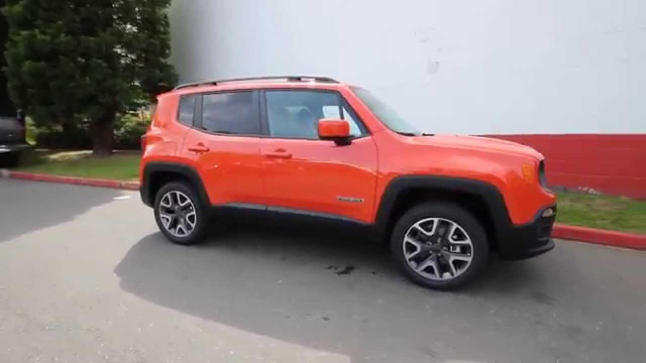 2015 jeep renegade latitude orange fpb26953 redmond seattle youtube. Black Bedroom Furniture Sets. Home Design Ideas