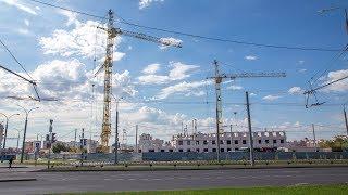 Строительство нового общежития ГрГУ имени Янки Купалы. Август 2019