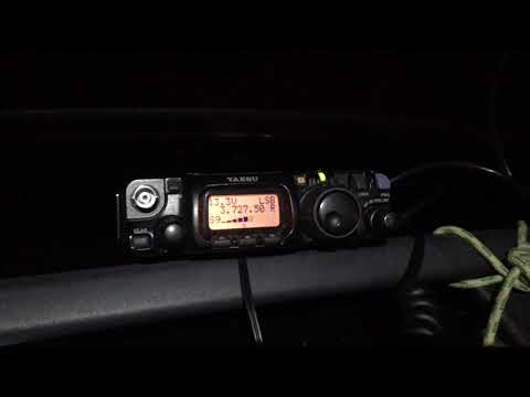 SQ8MFQ /2 QRP & SP1HHF . Yaesu FT 817 / Dipol Antenna 80m Band / Power 2 W