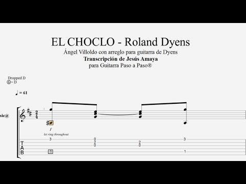 EL CHOCLO - Roland Dyens - Tablatura por Jesús Amaya...