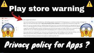 Playstore warning 😱 Privacy policy Makeroid/Thunkable Android Apps 🔥 Mp3