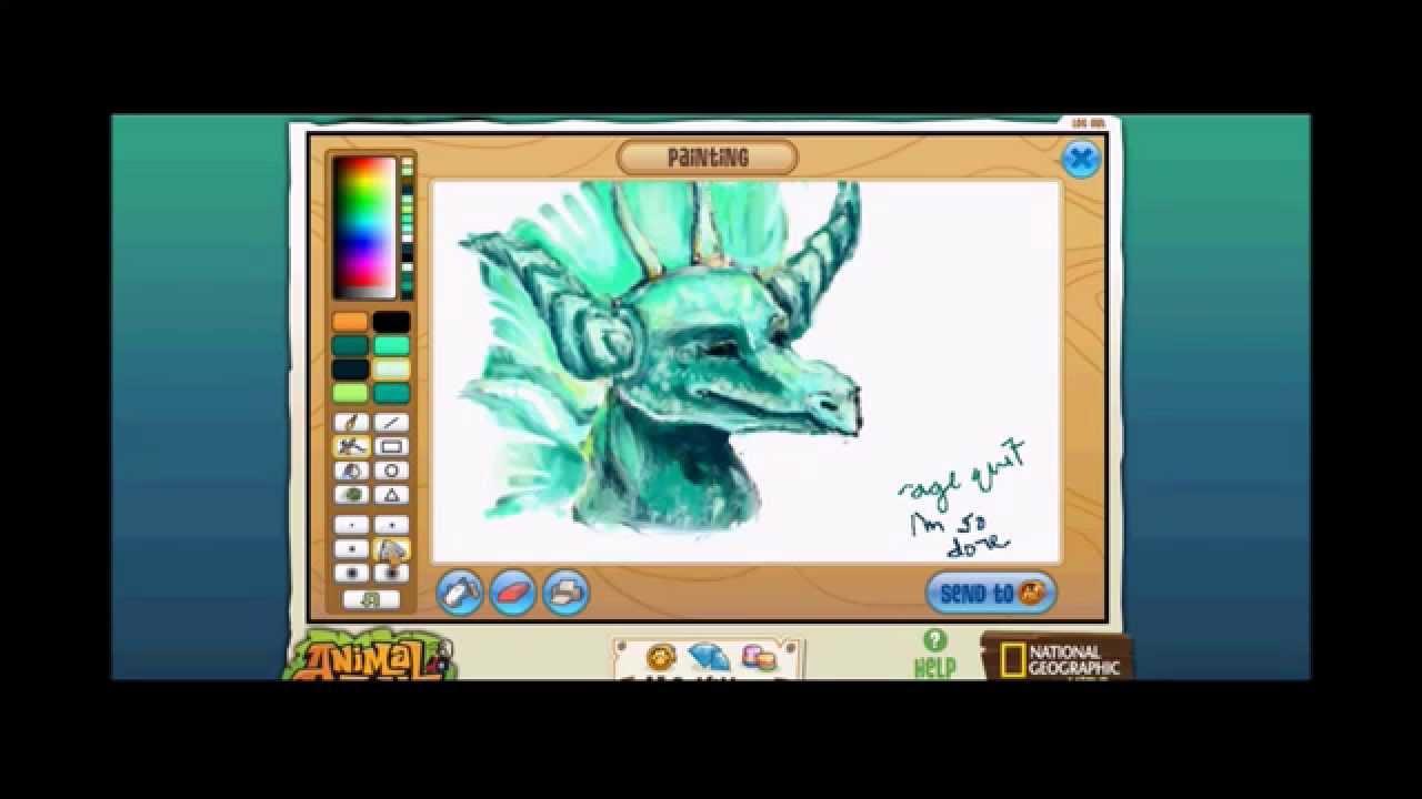 Image of: Masterpiece animal Jam Art Studio Youtube Youtube Dragon Speedpaint animal Jam Art Studio Youtube