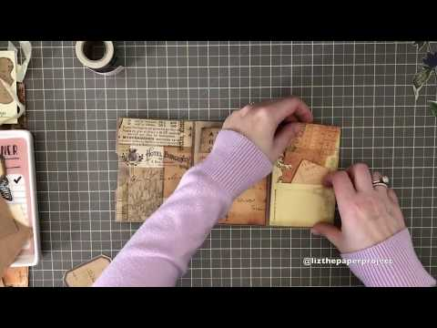 Tutorial - Mini Paper Bag Junk Journal Part 1 - Cover and Decorating