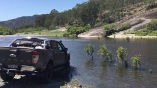 Ford Ranger PX2 flowing river crossing