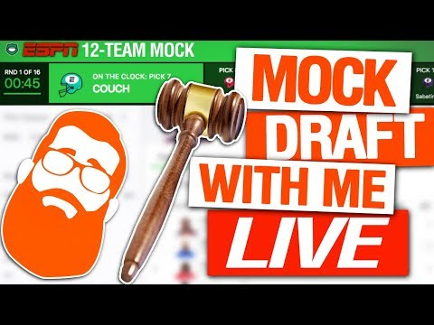 Fantasy Football Auction Mock Draft (LIVE)