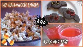 DIY HALLOWEEN SNACKS! QUICK + EASY! Thumbnail