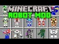 Minecraft ROBOT MOD! | BUILD ARMY OF ROBOTS TO FIGHT ZOMBIE APOCALYPSE! | Modded Mini-Game