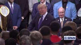 President Trump on Impeachment during 2019 NCAA Football National Championship Ceremony