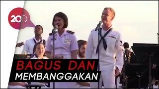 Keren! Lagu Akad Dinyanyikan Tentara RI, AS dan Australia