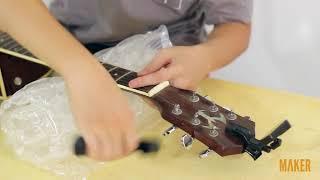 Thay dây đàn Acoustic Guitar chuyên nghiệp 2. Tháo dây cũ và bảo dưỡng