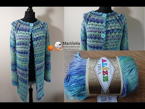 How To Crochet Cardigan Jacket Summer Coat All Sizes Pattern