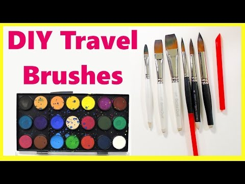 DIY Travel Paintbrushes! Make a set for cheap!