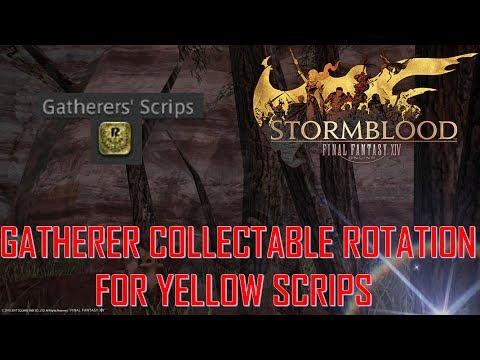 Final Fantasy XIV: Stormblood - Yellow Gatherer Scrips Collectable Rotation