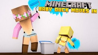 Minecraft - Little Kelly Adventures : BABY DUCK MOVES INTO THE CASTLE!