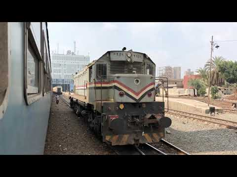 (HD) Egyptian Railways 2019 - Trains In The Cairo Suburbs
