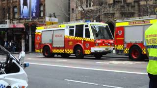Fire And Rescue NSW - SEV STP 19 & LSV 1 arriving on scene