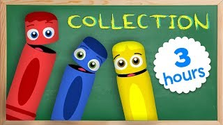 All Of The Colors Collection | Learn Colors For Children With Color Crew | Learning by Baby First TV