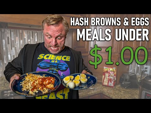 Bodybuilding Meals Under $1 | Instant Pot Hash Browns & Hard Boiled Eggs