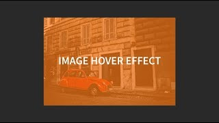 Image Overlay Hover Effect With CSS