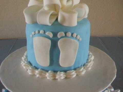 Baby Shower Foot Print Fondant Cake Youtube