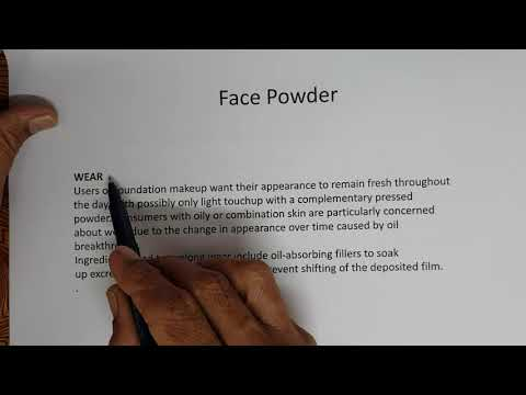 Part 86 Face powder:Building Blocks- Science of cosmetics and personal care products