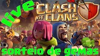 Live Clash of Clans Sorteio de GEMAS ATUALIZAÇÃO NOVO CV 12, NOVO HEROI,E NOVA TROPAS !!!