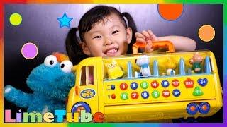 라임이의 뽀로로 빠방 스쿨버스 장난감 놀이터|동요 | 숫자공부 LimeTube & Toy 라임튜브