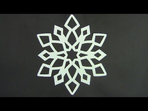 Paper snowflake tutorial - Look here! Snowflakes in 5 minutes