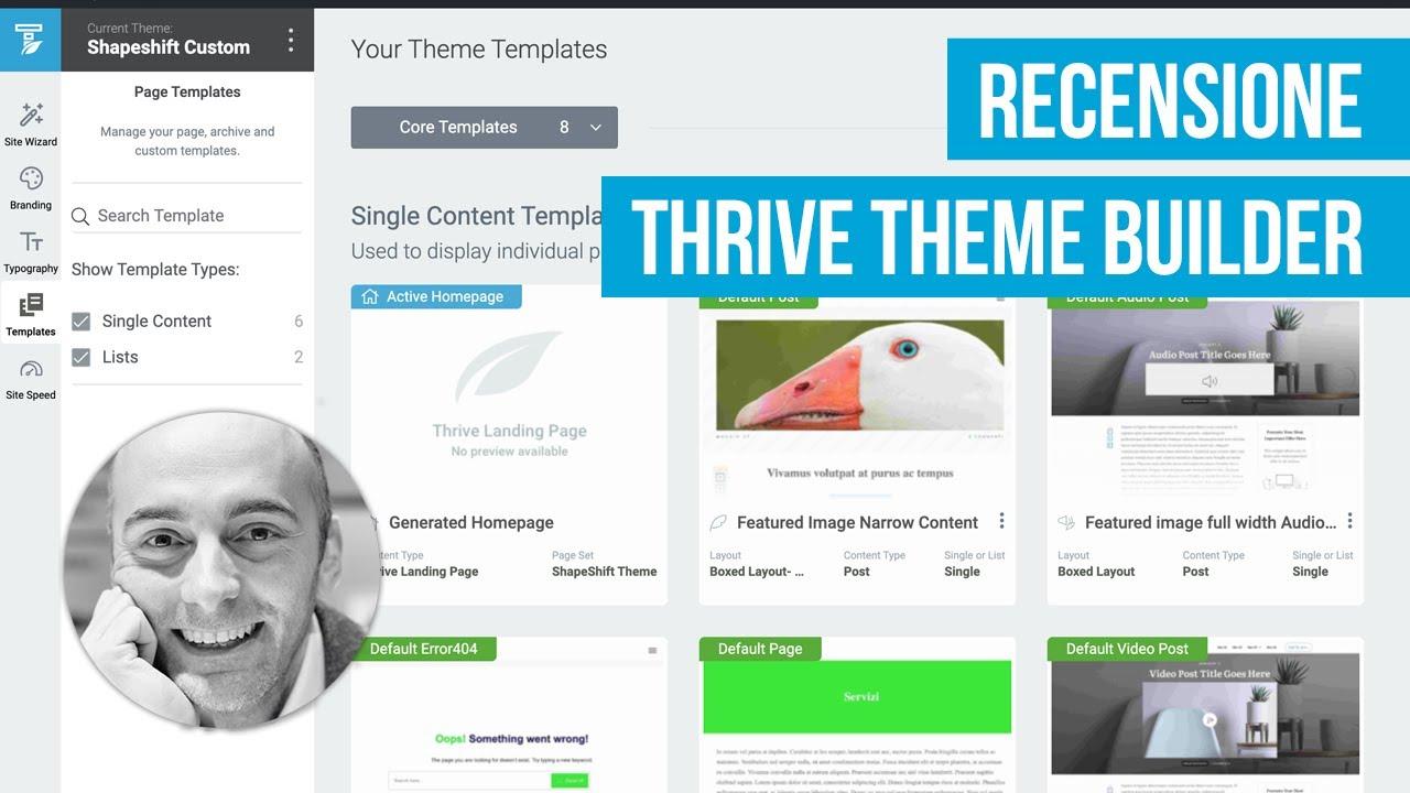 Thrive Theme Builder: recensione e creazione di un sito WordPress in meno di 15 minuti