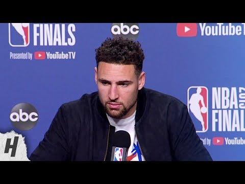 Klay Thompson Postgame Interview - Game 5 | Warriors vs Raptors | 2019 NBA Finals