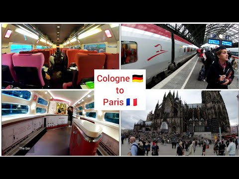 Cologne to Paris with Thalys high speed train 4K