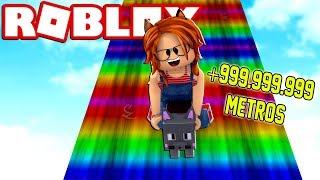 DANGEROUS CAUSE of 999.999.999 METERS in ROBLOX LONGEST TOBOGON 😱