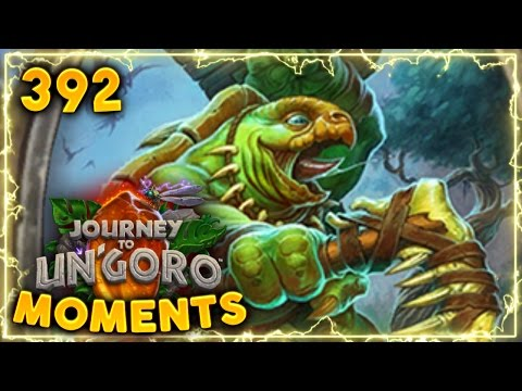Stonehill Defender RNG..   Hearthstone Un'Goro Daily Moments Ep. 392 (Funny and Lucky Moments)