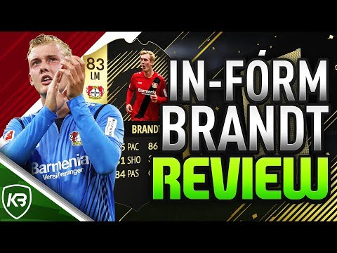 FIFA 18 IF JULIAN BRANDT REVIEW   @RealKBFIFA   ULTIMATE TEAM PLAYER REVIEW