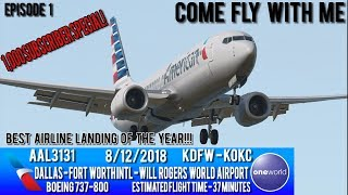 Come Fly With Me | DFW-OKC 737-8 | 1,000 Subscriber Special