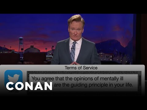 Conan vs. Terms of Service of Twitter, HBO Go Edition