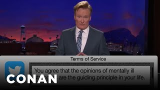Terms Of Service: Twitter, HBO Go Edition  - CONAN on TBS Mp3