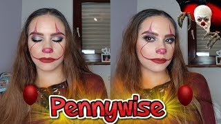 Glam  IT PENNYWISE HALLOWEEN Makeup Tutorial 🤡 | Maisa Beauty