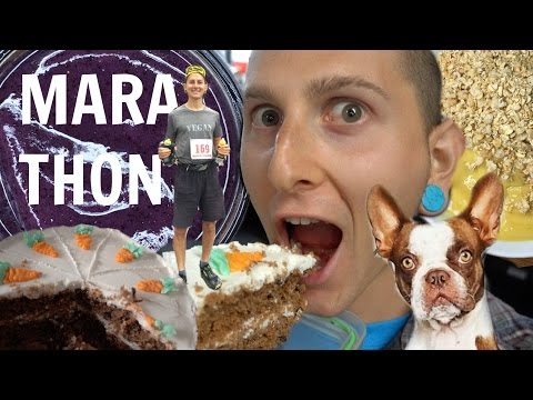 Running My 1st MARATHON As A VEGAN🏃WHAT I EAT IN A DAY🍰