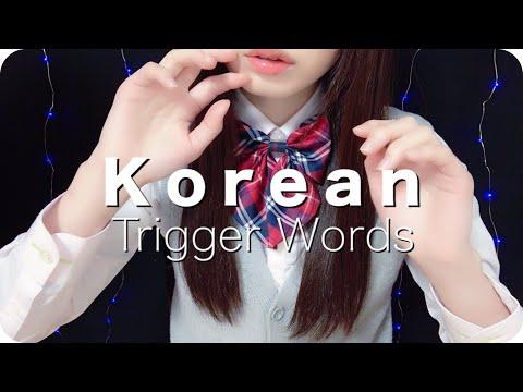 [ASMR]Korean Trigger Words Melting 한국 단어반복 [whispering] asmrCham