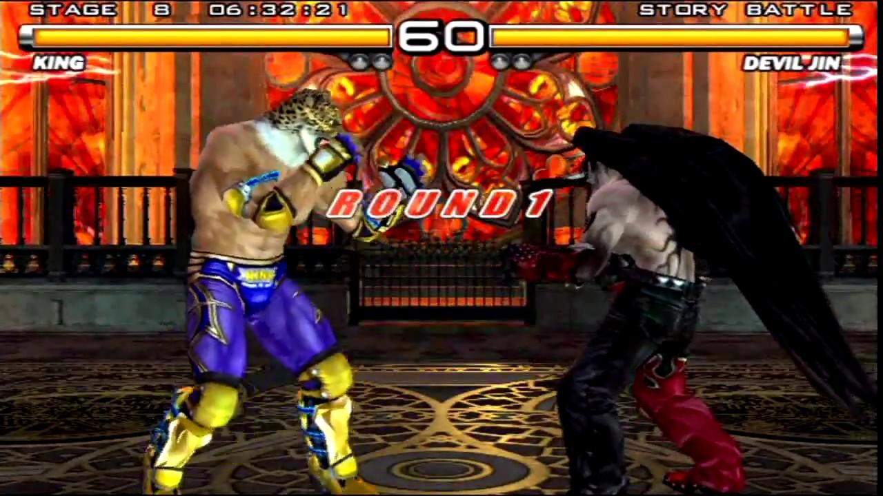 Tekken 5 (PlayStation 2) Story Battle as King