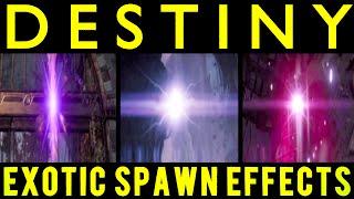 Destiny: All 3 Faction Exotic Class Item Spawn (Transmat) Effects