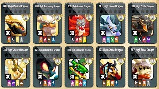 ✔️20M Thức Ăn Và Cho Full Rồng H Lên Cấp 30   Dragon City Game Mobile