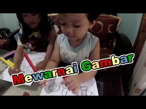 Little kids Practicing Coloring Pictures ❤ Kids Coloring Fun